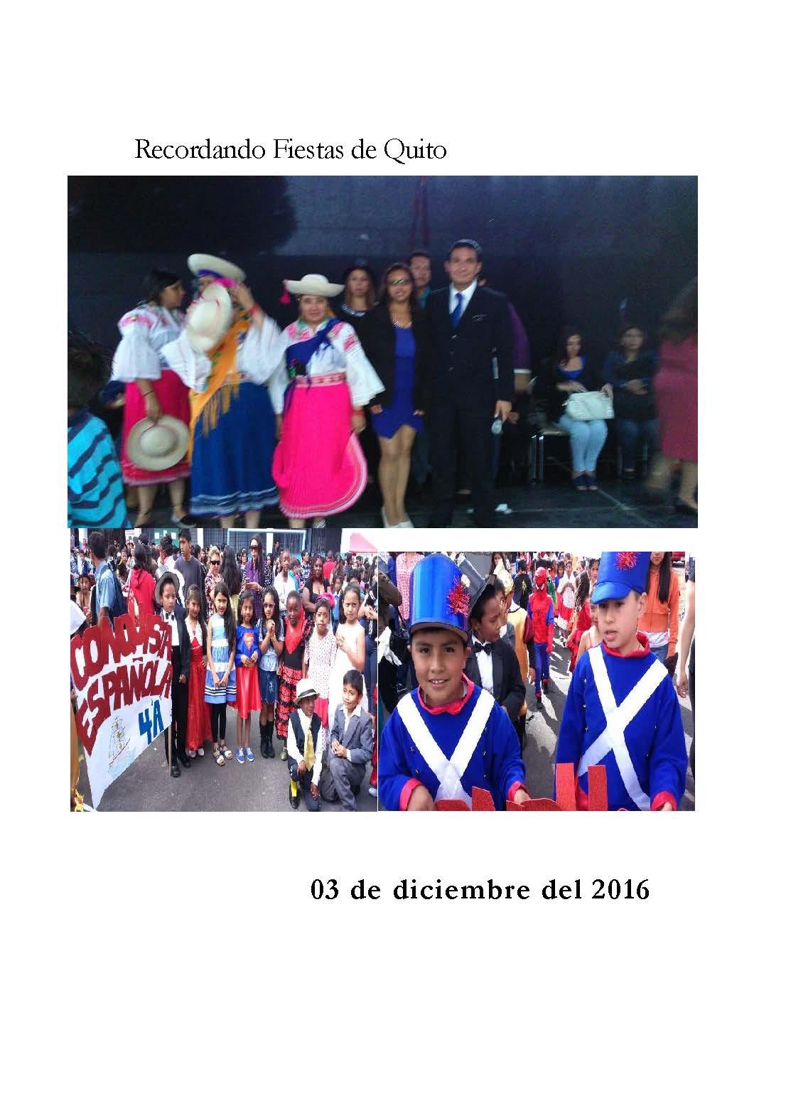 Recuerdos de las Fiestas de Quito Escuela de E.G.B. DIARIO EL COMERCIO Imagen 2